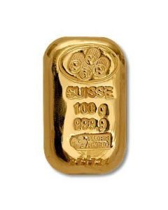 PAMP Suisse Cast 100g Gold 999.9 - Cond: A
